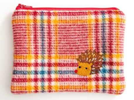 Hedgehog 1 - Wooly Woodland Zipper Pouch