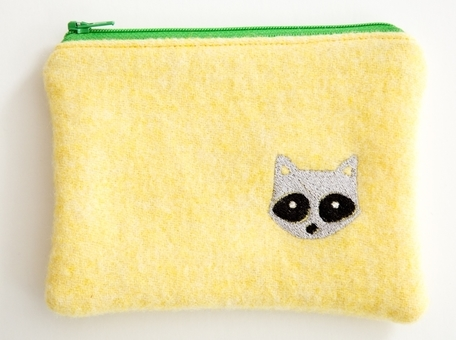 Raccoon 2 - Wooly Woodland Zipper Pouch