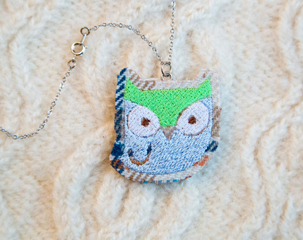 Owl Woodland Necklace No.4