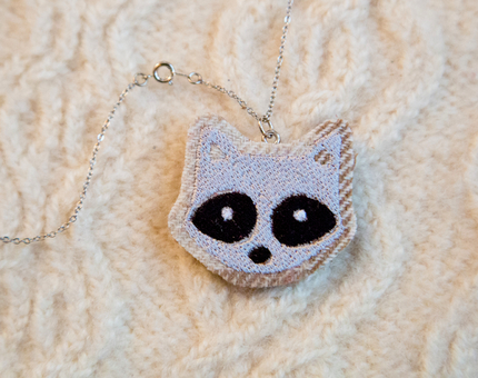 Raccoon Woodland Necklace No.3