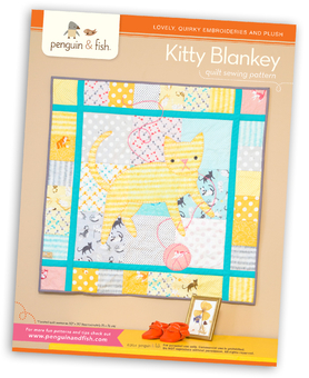 Kitty Blankey quilt sewing pattern - printable PDF file