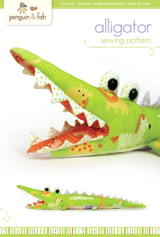 Alligator Sewing Pattern - printable PDF file