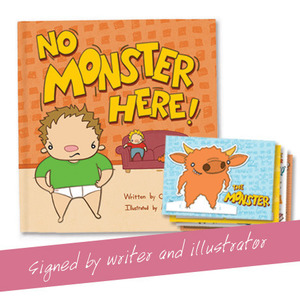 No Monster Here - Autographed by writer and illustrator + Activity cards
