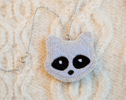 Raccoon Woodland Necklace No.1