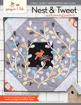 Nest & Tweet Quilt PDF Sewing Pattern