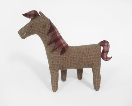 Horse no.58 tan tweed wool