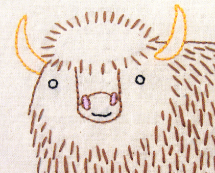 Y Yak hand embroidery pattern - printable PDF file