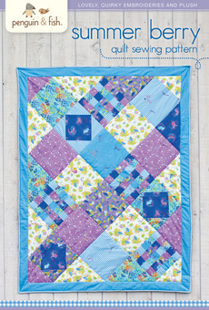 Summer Berry Quilt Sewing Pattern - printable PDF file