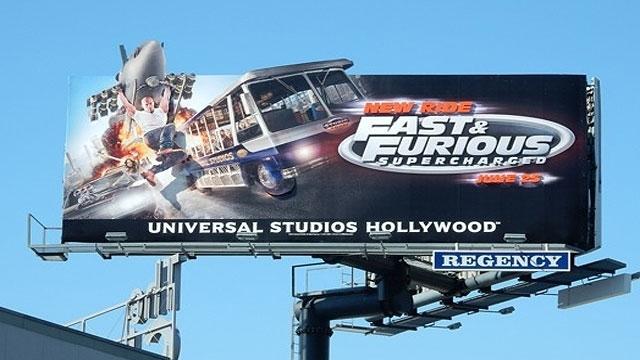 Universal Studios 'Fast & Furious' Billboard